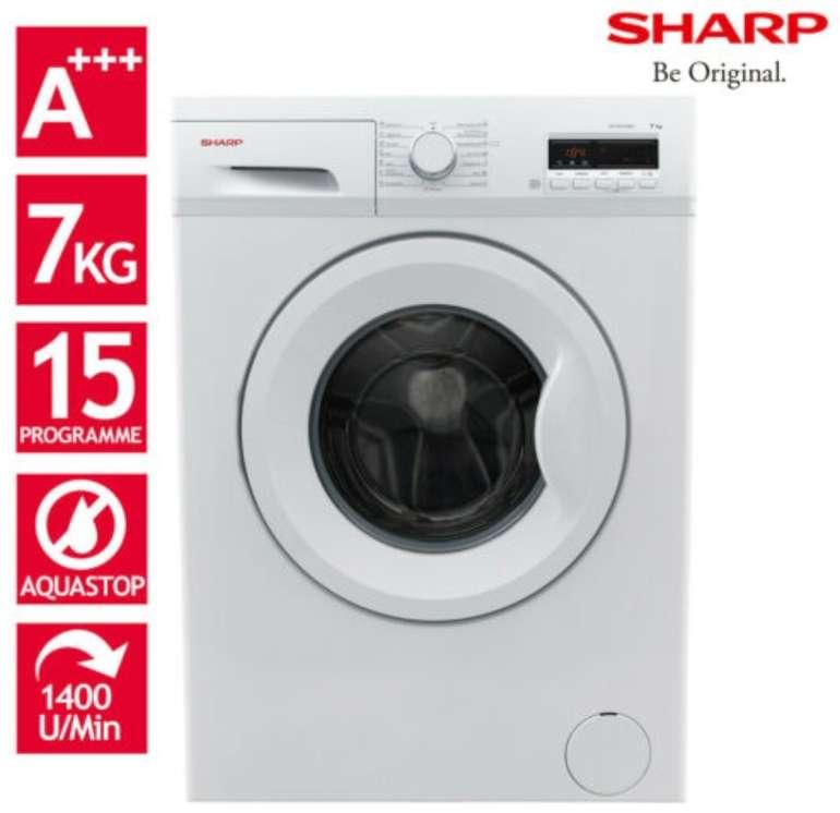Sharp ES-FB7143W3A-DE - 7kg Waschmaschine (A+++, 1400 U/m, Aqua Stop) für 249,90€ inkl. Versand
