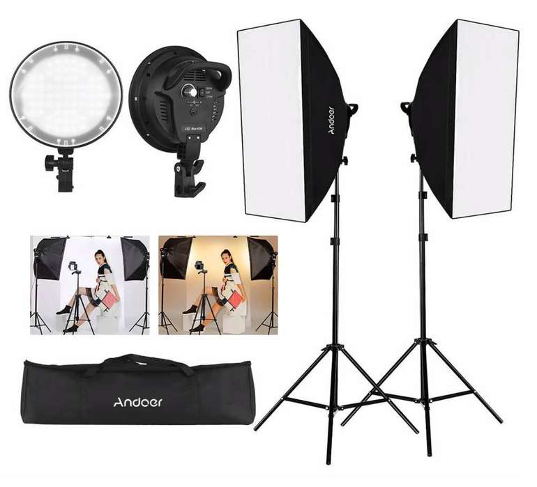 Andoer Softbox Fotostudio mit viel Zubehör für 69,99€ inkl. Versand