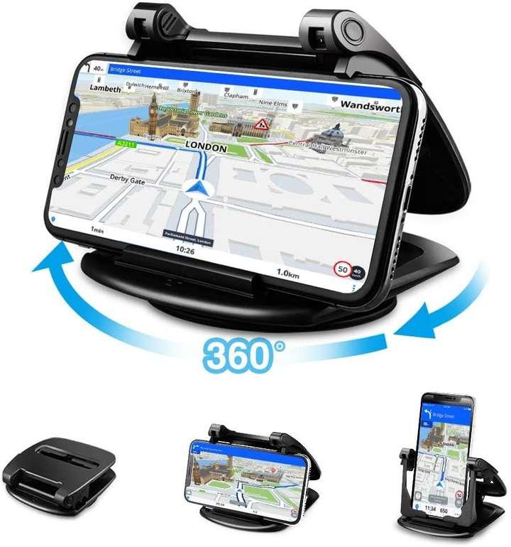 Cinati Handy Halterung mit 360° drehbarem Sockel für 8,49€ inkl. Prime Versand (statt 17€)