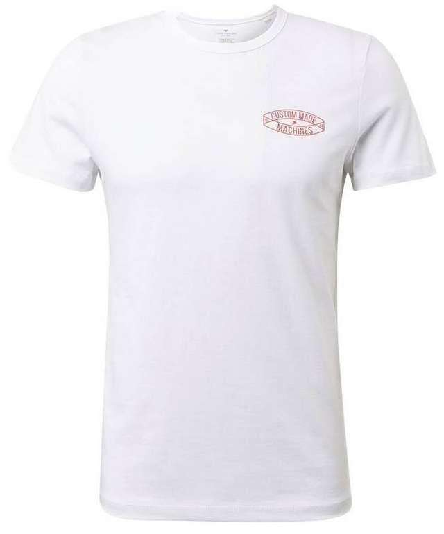 Tom Tailor Herren T-Shirt in weiß (Größe XL / XXL) für 8,01€ inkl. Versand (statt 12€)