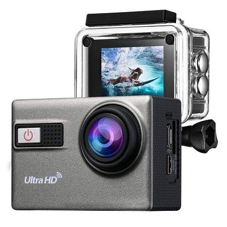 Holife 4K WIFI Action Kamera mit Unterwassergehäuse & 2 Akkus für 38,07€
