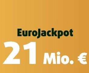 21 Millionen € im Eurojackpot - z.B. 4 Felder EuroJackpot + 5 Rubbellose für 1€ (nur Neukunden!)