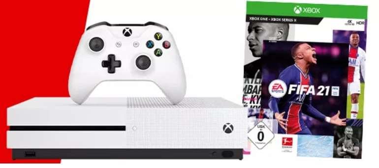 Microsoft Xbox One S Konsole mit 1TB Speicher + 2 Controller und Fifa 21 für 201,68€ inkl. Versand
