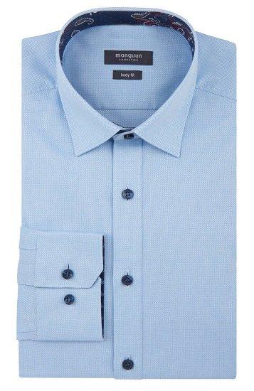 Galeria.de: Manguun Herren Hemden im Sale + 20% Extra, z.B. Blaues Hemd für 11,99€