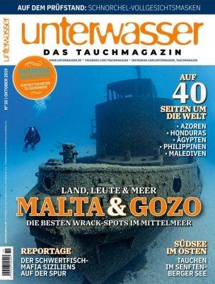 Unterwasser im Halbjahres-Abo (6 Ausgaben) für 43,80€ + 45€ Amazon Gutschein