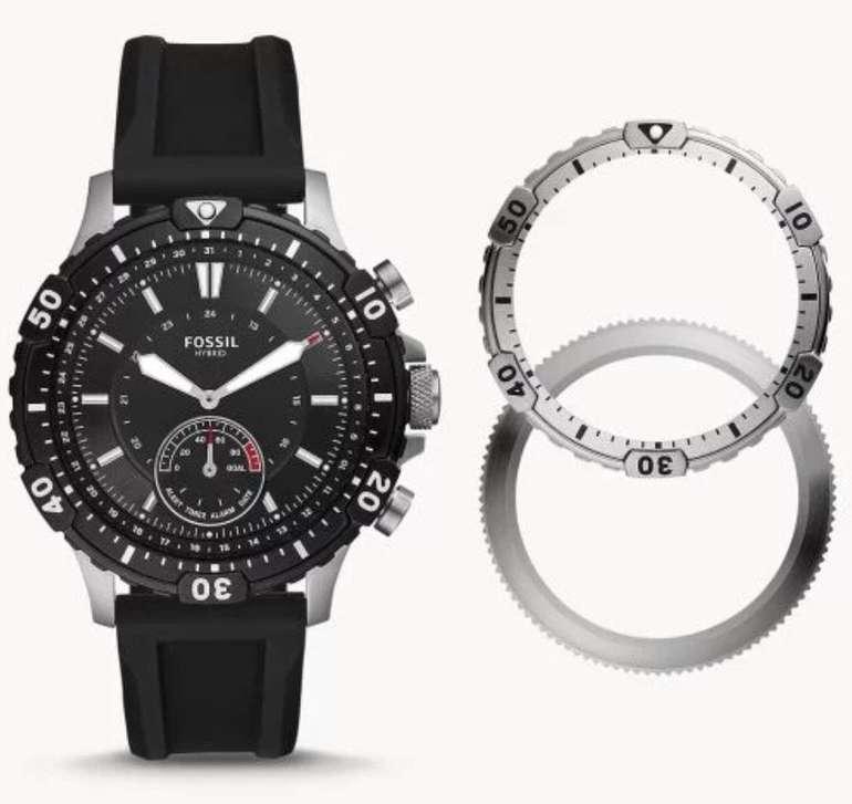 Fossil FTW1190SET Garret Herren Hybrid Smartwatch mit Silikon Armband für 99€ (statt 199€)