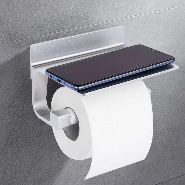 Dalmo Toilettenpapierhalter mit Ablage für 7,49€ inkl. Prime Versand (statt 15€)
