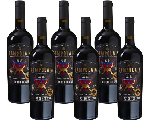 6er Paket Campolaia - Rosso Toscana IGT Rotwein (2017) für 40,93€ inkl. Versand