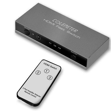 Colemeter 3-in1 HDMI Switch mit Fernbedienung für 9,99€ (Prime)