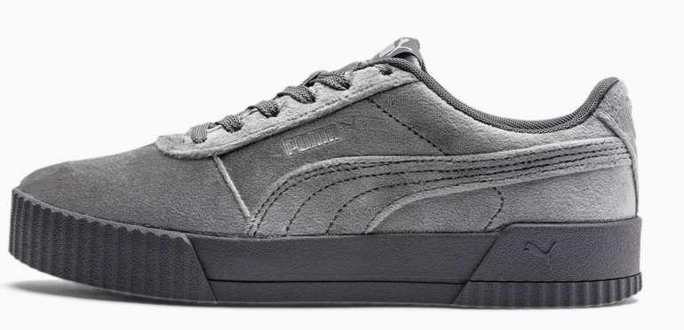 Puma Carina Velvet Damen Sneaker in Grau für 37,39€ inkl. Versand (statt 47€)