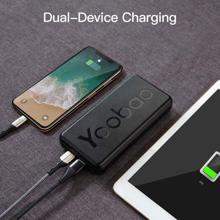 Yoobao 20T Powerbank mit 20.000mAh (Type-C & Micro-USB) für 14,99€ inkl. VSK (Prime)