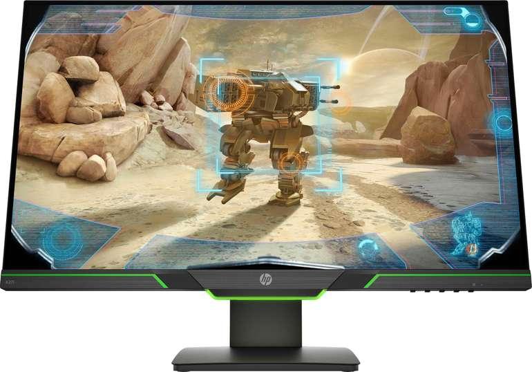 """HP x27i - 27"""" Gaming-Monitor (2560 x 1440 Pixel, QHD, 4 ms Reaktionszeit, 144 Hz) für 290,75€ inkl. Versand"""