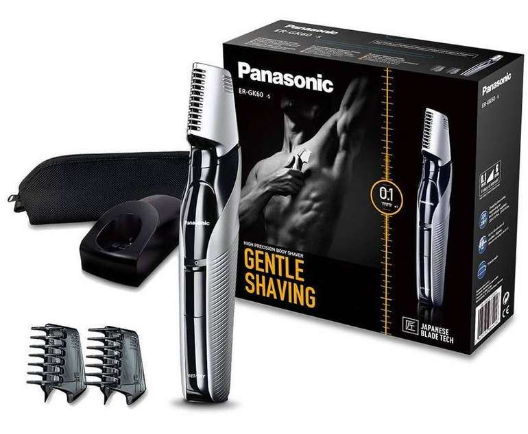 Panasonic Body-Trimmer ER-GK60, 3 Aufsätze, Rasierer für 35,90€ (statt 49€)