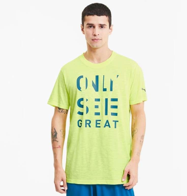 Puma Performance Herren T-Shirt mit Slogan in 3 Farben für je 10,36€ (statt 21€)