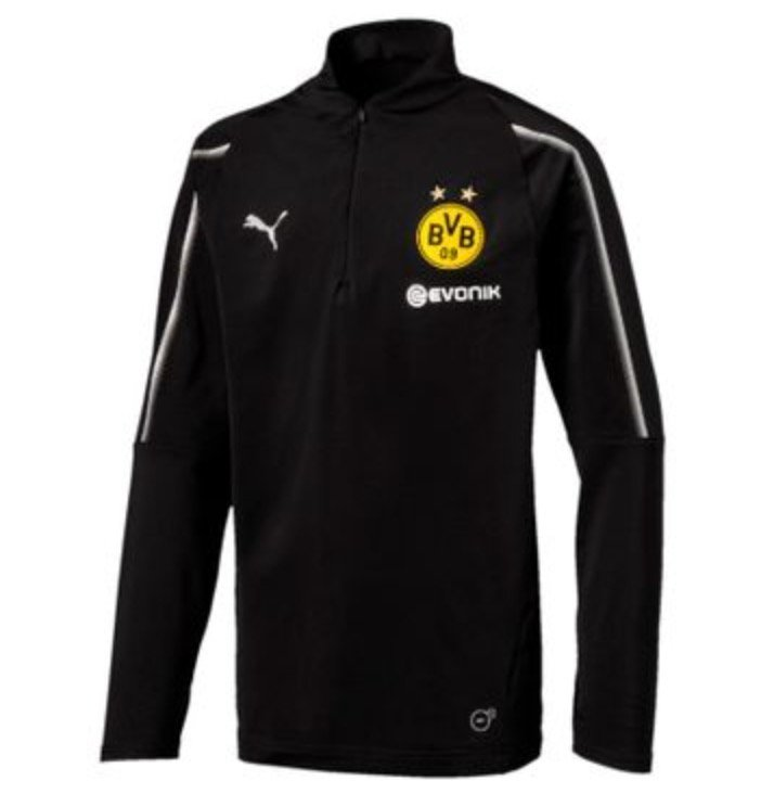 Puma BVB Borussia Dortmund Kinder 1/4 Training Zip Top Langarmshirt für 14,98€ (statt 20€)
