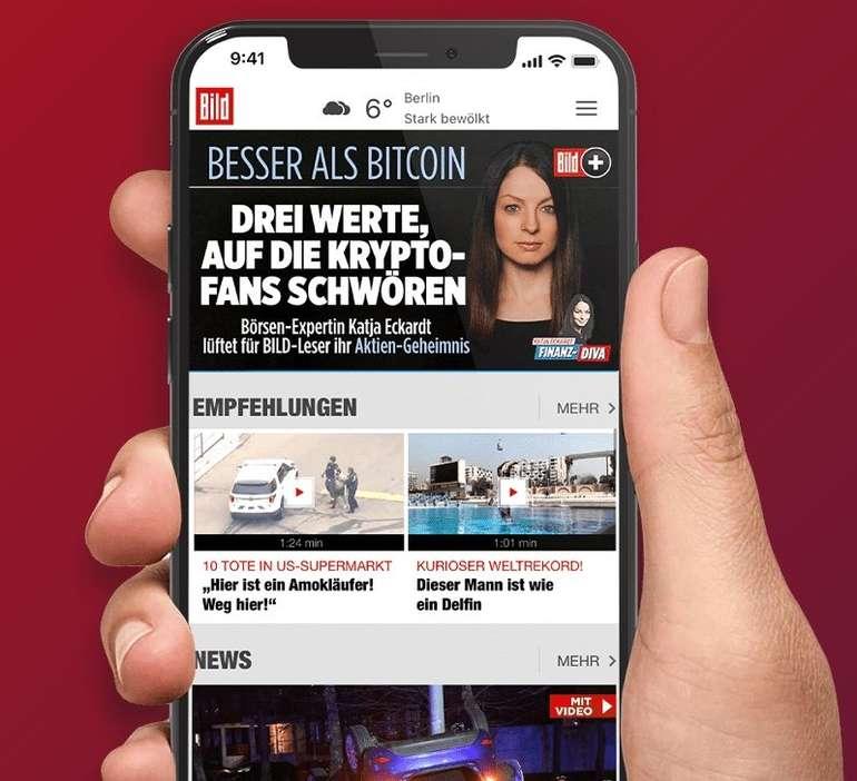 BILDplus Digital Abo - 1 Jahr lang für 1,99€ mtl. (statt 3,99€) - monatlich kündbar!