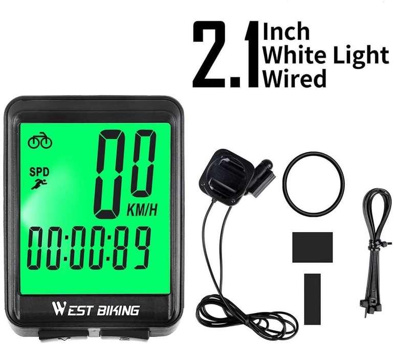 Lixada Fahrradcomputer mit LCD-Hintergrundbeleuchtung für 11,99€ inkl. Versand (statt 28€)