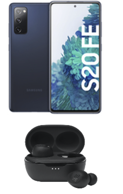 Galaxy S20 FE + JBL Tune 115TWS (49€) mit Congstar Allnet Flat Aktion mit 12 GB LTE für 22€ mtl.