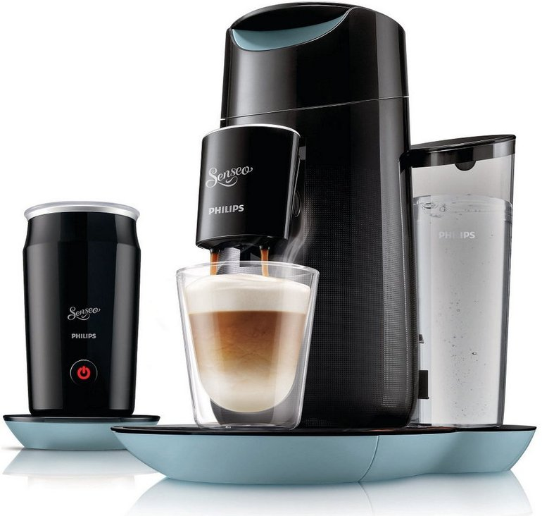Senseo Twist & Milk HD7874 Kaffeepadmaschine + Milchaufschäumer für 99,99€