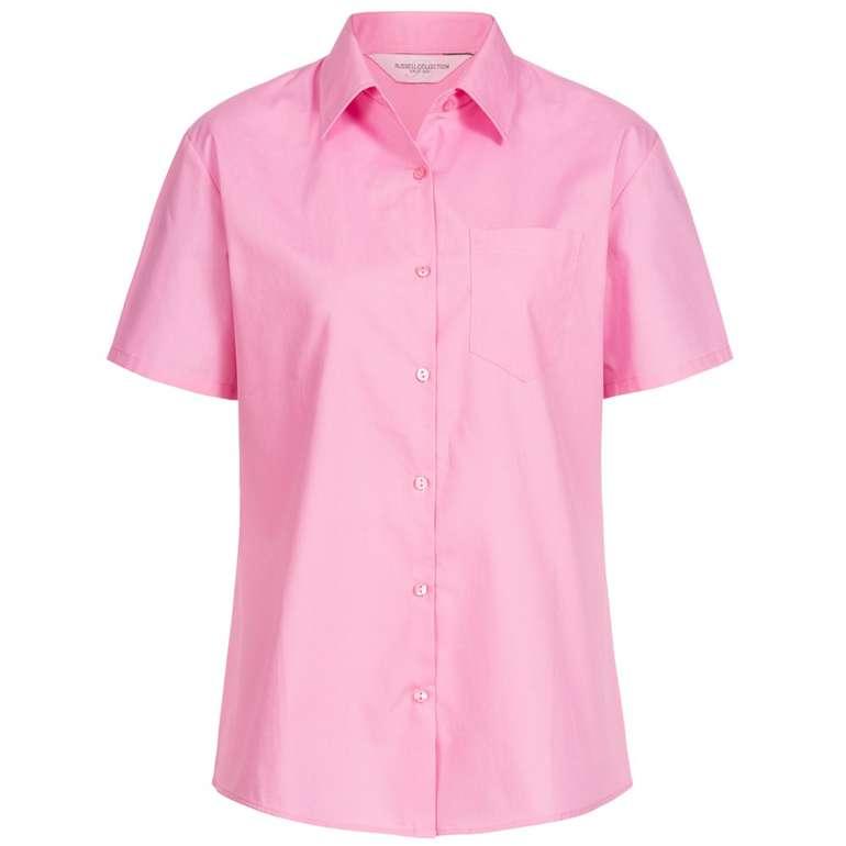 Russel Short Sleeve Pure Cotton Poplin Damen-Hemd für 0,99€ zzgl. Versandkosten (statt 6€)