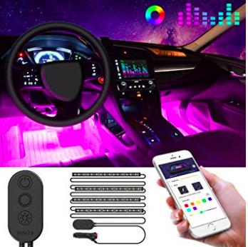 Minger LED-Leiste für das Auto (App-Steuerung, Farbwechsel via Musik) für 11,99€