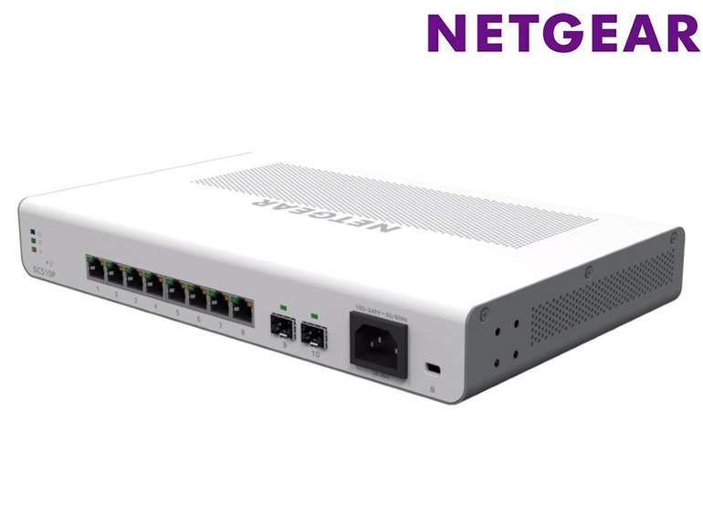 Netgear GC510P-100EUS Smart Cloud Switch 8-Port Gigabit Ethernet für 75,90€ (statt 150€)