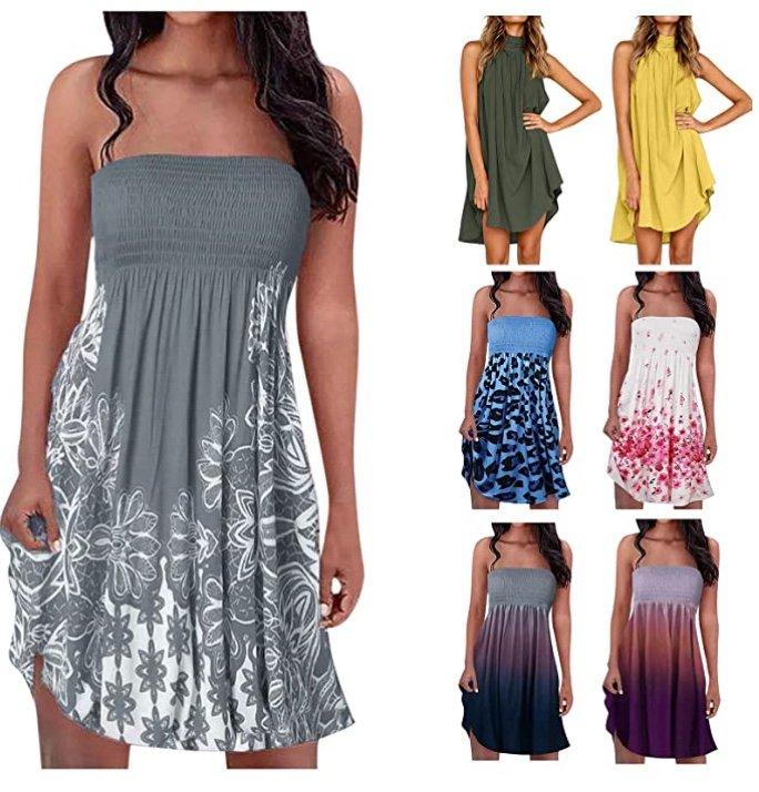 Ylzsx Damen Sommerkleider (knielang, ärmellos) ab 8,29€ inkl. Versand (statt 20€)