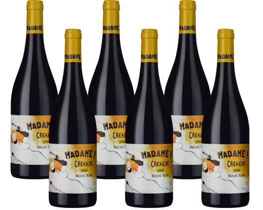 6 Flaschen Madame F - Grenache Vieilles Vignes - Côtes Catalanes IGP für 34,98€