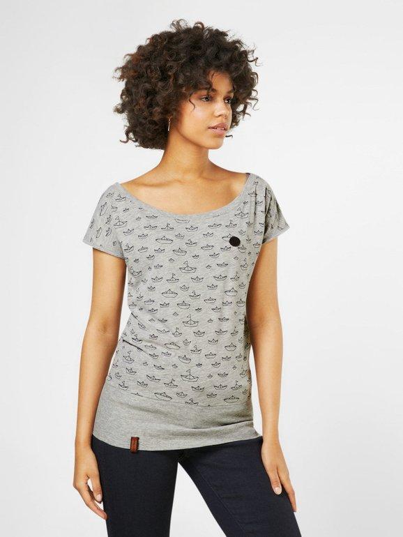 Naketano Shirt 'Squandering our lives' in grau für 18,62€ inkl. VSK (statt 28€)