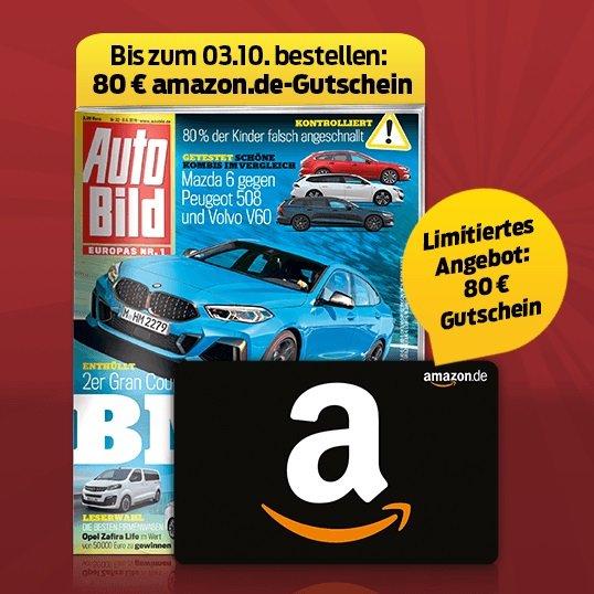 """51 Ausgaben """"Auto Bild"""" für 112,20€ + 80€ Amazon Gutschein"""