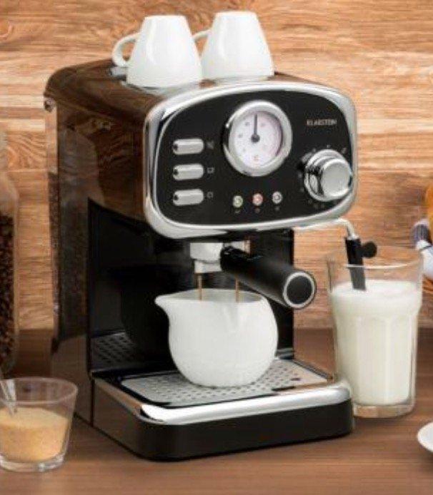 Klarstein Espressionata Gusto Siebträger Espressomaschine (1100 Watt, 15 bar) für 70,99€ (statt 90€)
