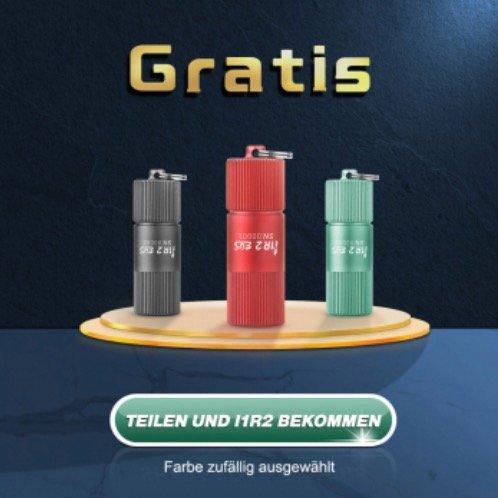 Kostenlos: Olight i1R 2 EOS Schlüsselbund Taschenlampe (zzgl. 6€ Versandkosten)