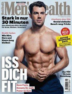 6 Monate Men's Health mit 6 Ausgaben für 31,50€ + z.B. 15€ Verrechnungsscheck