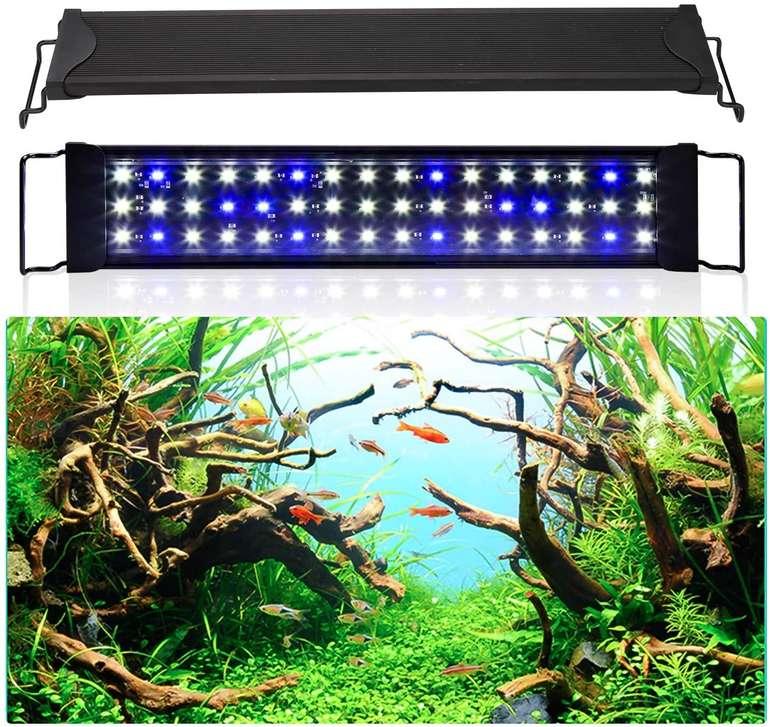 Wolketon LED Aquarium Beleuchtung (für Süßwasser) reduziert, z.B. 24 W (50-80 cm) für 15,59€