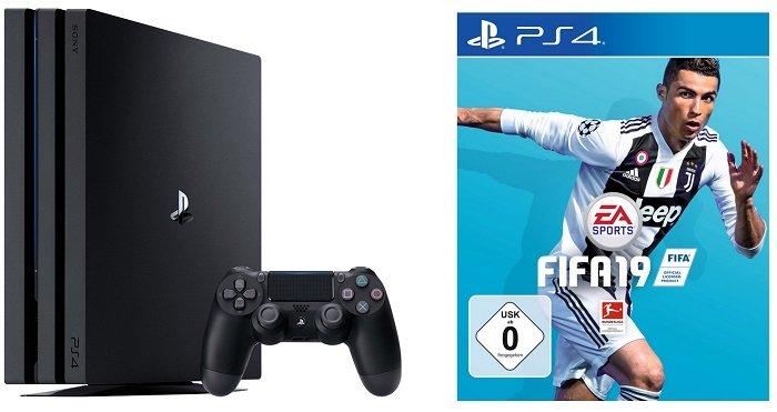 Sony Playstation 4 Pro 1TB + FIFA 19 für 339€ zzgl. VSK (statt 414€)