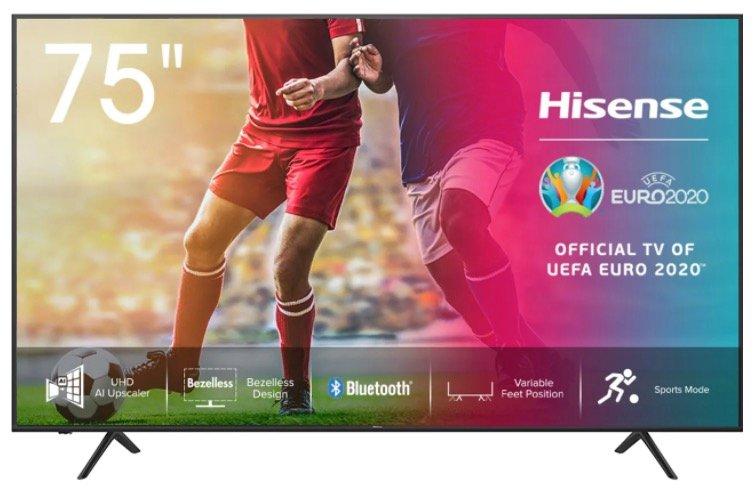 Hisense 75AE7000F - 75 Zoll 4K UHD LED Smart TV für 799€ inkl. Versand (statt 899€)