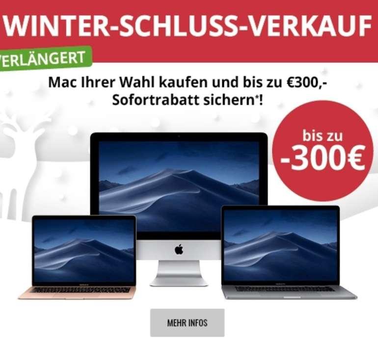 Winterschlussverkauf bei MacTrade mit bis -300€ Rabatt auf ausgewählte Macs + 0% Finanzierung + 8% EDU