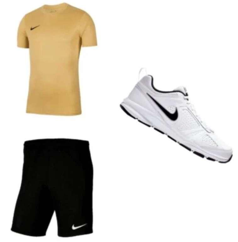 3-tlg. Nike Trainings Outfit Park VII (T-Shirt, Shorts und Sneaker) für 59,95€ inkl. Versand (statt 69€)