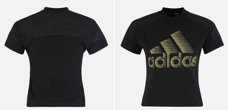 "Adidas Performance Damen T Shirt ""ID Glam"" in Gold Schwarz…"