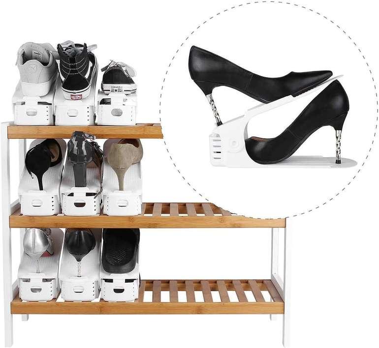 Hengda verstellbare Schuhstapler reduziert, z.B. 30er Pack weiß für 23,79€
