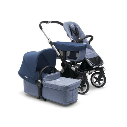 bugaboo Kinderwagen Donkey 2 Mono complete in blue melange/sky blue für 837,19€ (statt 1.121€)