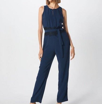 About You Jumpsuit 'Janine' in Blau für 29,67€ inkl. Versand
