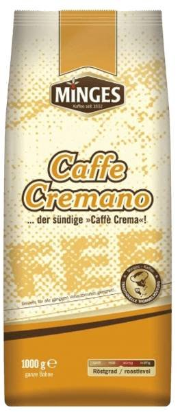 1kg Minges Kaffeebohnen 'Caffe Cremano' für 7,77€ inkl. Versand (statt 10€)