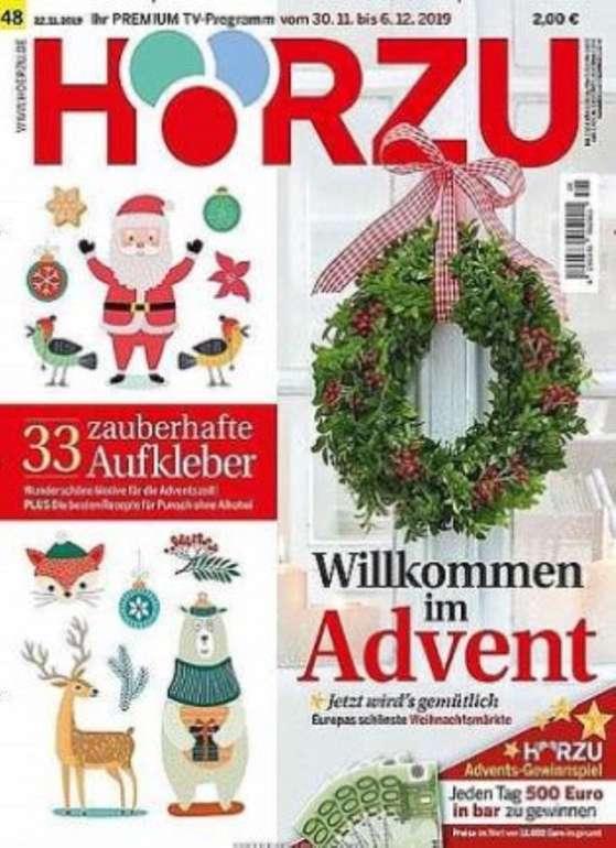 1 Jahr Hörzu TV-Zeitschrift für 116,90€ + z.B. 115€ Otto oder Zalando Gutschein!