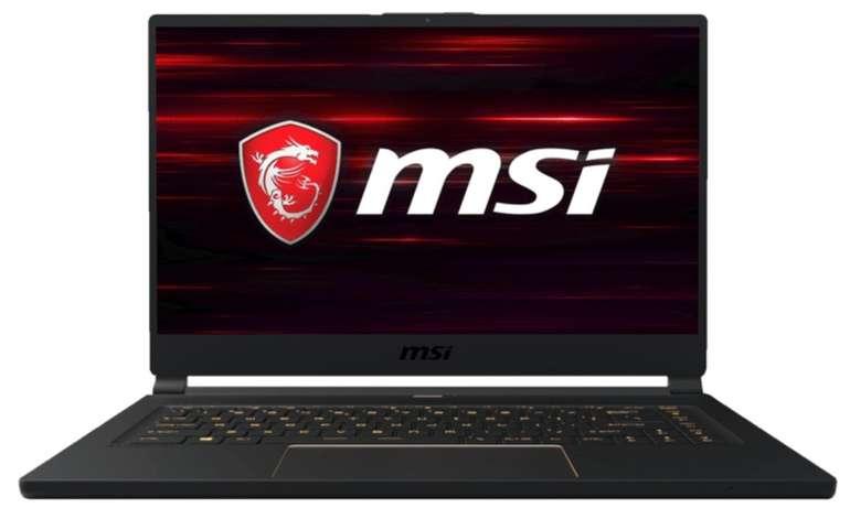 "MSI GS65 9SE - 15,6"" Gaming Notebook (i7 Prozessor, 16GB RAM, 1TB SSD, GeForce RTX 2060) für 1.799€"