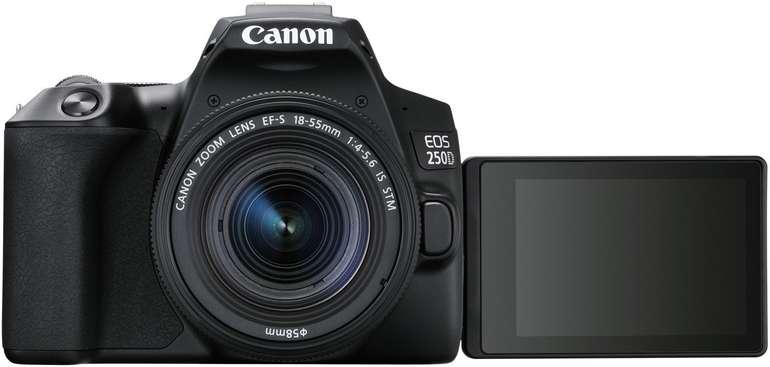 Canon EOS 250D Spiegelreflexkamera + 18-55 mm Objektiv (24,1 Megapixel, 4K, WLAN) für 494,10€ (statt 580€)