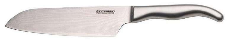 Le Creuset Santokumesser 18 cm, 18/8 Damaststahlklinge mit glattem Schliff für 77,10€ inkl. Versand (statt 110€)