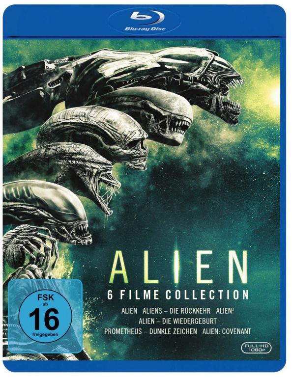 Alien 1-6 Collection (Blu-ray) für 25€ inkl. Versand (statt 37€)