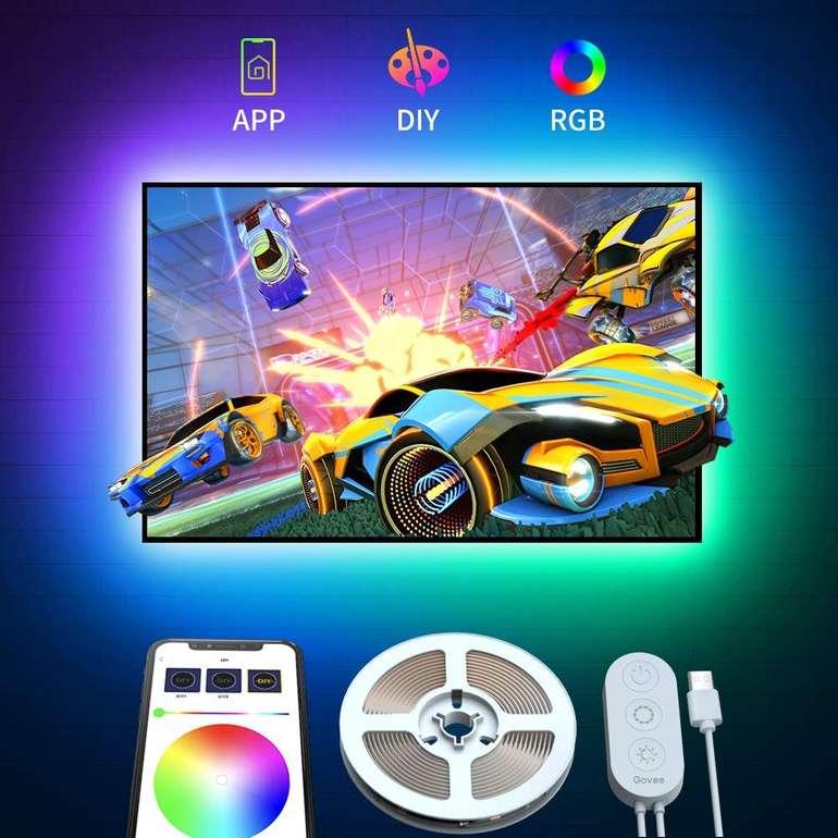 Govee - 2 Meter LED TV Hintergrundbeleuchtung mit App-Steuerung für 8,99€ inkl. Prime (statt 12€)