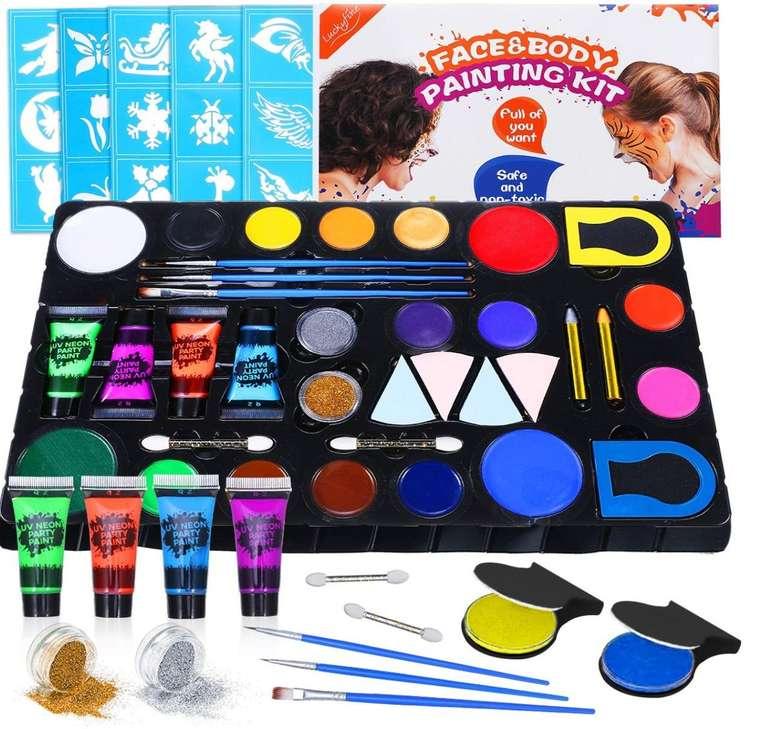 Luckyfine Kinderschminke Set für 7,49€ inkl. Prime Versand (statt 14,99€)